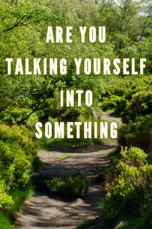 Are you talking yourself into something?